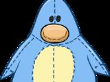 Disfraz de Pingüino de Peluche Celeste