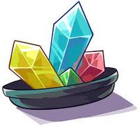 Cristales en plato