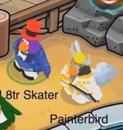 L8tr Skater junto a Painterbird
