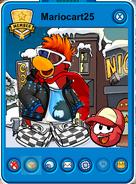 Mariocart25 Mascot Playercard