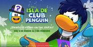 Pantalla de Inicio Fiesta de Isla de Club Penguin