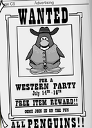 Wild West Party 2006 Newspaper Ad