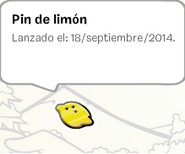 Album de estampillas pin limón