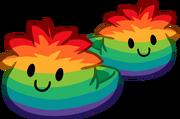 Pantuflas de Puffle Multicolor icono