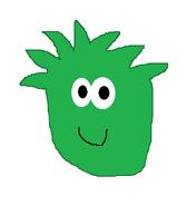 GREEN PUFFLE DRAWING