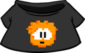 Orange Pixel Puffle Tee icon
