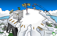 Puffle Party 2012 construction Ski Hill