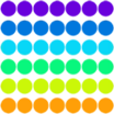 Puntos de colores Calcomanía Inicio