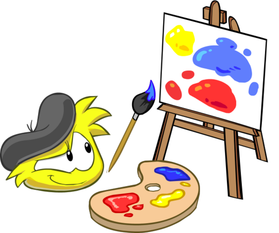 File:Yellow Puffle Easel Painting.png