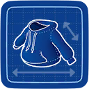 Blueprint Pull-over Hoodie icon