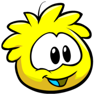 Cute yellow puffle