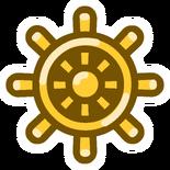 Golden Wheel Pin