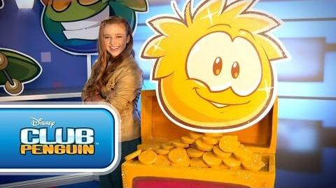 Disney Channel Game On - Gold Puffle