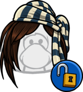 Striped Pirate Bandana unlockable icon