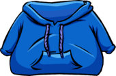Blue Hoodie clothing icon ID 4009