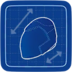 Blueprint Motorcycle Helmet icon