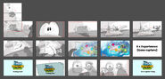 Club Penguin Island trailer storyboard
