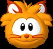 Orange cat 3d icon