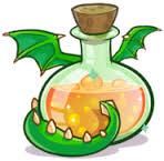 Puffle, Pocion para convertirse en Puffle Dragón Verde