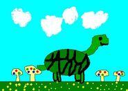Turtle and Mushrooms