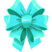 Decal Bow Turquoise icon
