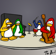 Penguin Band Background
