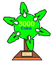 3000 coins award