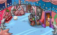 Cafetería en la fiesta submarina