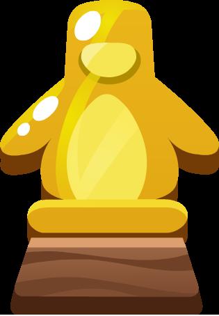 Emoji Penguin Award trophy