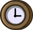 Prehistoric 2014 Emoticons Clock static