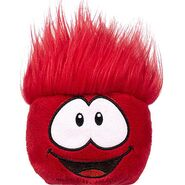 Puffle rojo peluche