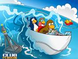 Pingüinos Saltos Acuáticos