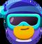 Pingüino piloto de nieve emoji