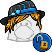 Blue Stripe Fedora clothing icon ID 11166 updated