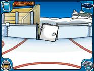 Ice Rink door broken