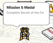 Mission 5 medal stamp book