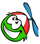 Green Puffle Wearing Red Propperler Cap11