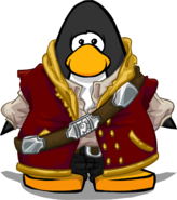 Master Pirate Outfit on a Player Card
