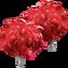 Pompones Rojos