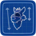 Blueprint Wolf Head icon