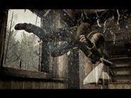 Hero saltando por la ventana