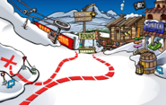 Rockhopper's Arrival Party Ski Village