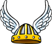 Winged Viking Helmet icon ID 473