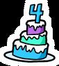 4th Anniversary Cake Pin