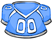 Bluefootballjersey