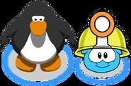 Mining Helmet (Puffle Hat) In-Game
