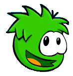 Smiling Green Puffle Sprite Old Club Penaguin Times