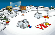 Summer Party Snow Forts