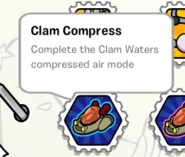 Clam compress stamp book