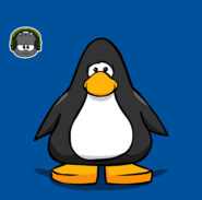 Dub-step Puffle pin on a Player Card